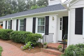 Exterior Paint Colors With Brick Exterior Comfortable Home Exterior Design With White Wall Paint
