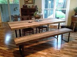 wooden table and bench reclaimed wood table and bench dining room gorgeous best dining