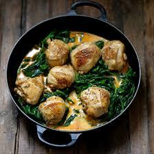 comment cuisiner une cuisse de poulet on dine chez nanou poulet aux épinards et au paprika