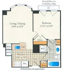 Ellington Floor Plan Lofts 1 U0026 2 Bedroom Apartments Optional Den On U St Dc The