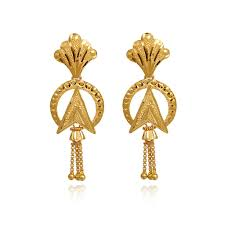 indian simple gold earrings designs with price