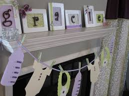purple and green baby shower decorations mantel decor can be