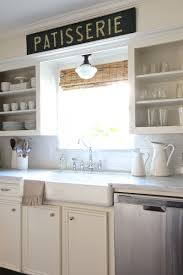 Kitchen Open Shelving Ideas by Over The Sink Kitchen Light Ideas Also Open Shelving Farmhouse