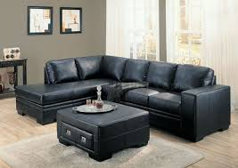Black Leather Sofa With Chaise Black Sectional Leather Sofa With Ideas Picture 46019 Imonics