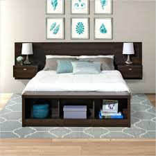 Full Platform Bed With Headboard Bookcase Full Platform Bed With Bookcase Headboard Twin Size