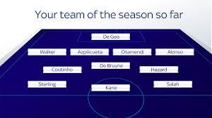 pundits team of the season so far manchester city players lead