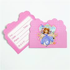 aliexpress com buy 10pcs lot invitation card princess sofia the
