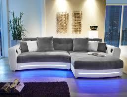sofa grau weiãÿ multimedia sofa larenio hifi wohnlandschaft 322x200 cm grau weiß