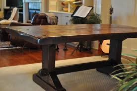 dining room tables atlanta the emerson rustic trestle dining table atlanta georgia rustic