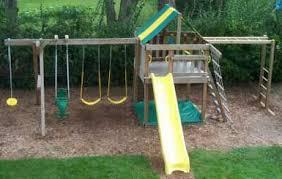 Backyard Swing Set Ideas Backyard Swing Set Plans How To Build Diy Wood Fort And Swing Set