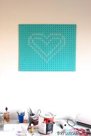 cross stitch pegboard heart the rustic willow