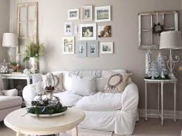 large wall decor ideas for living room with white fabric chair