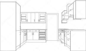 dessiner en perspective une cuisine architecture cuisine dessin image vectorielle theohrm 6440945