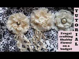 Frugal Flowers - melting flower on a budget no sew shabby chic tutorial diy how