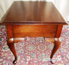 broyhill end table with usb vintage broyhill lenoir cherry queen anne side end tables jpg coffe