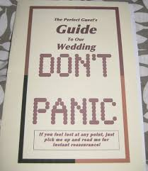 cool wedding programs the hitchhiker s guide to the wedding neatorama