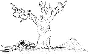 bare tree trunk coloring page