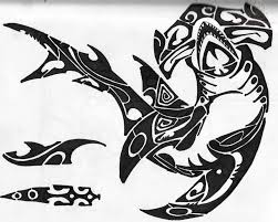 hammerhead shark tribal tattoos chest pictures to pin on pinterest