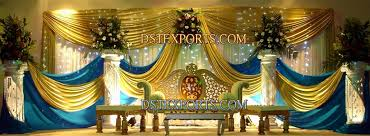 muslim wedding decorations wedding gold lighted stage