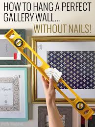 how to hang picture frames that have no hooks how to hang a perfect gallery wall without nails gallery wall