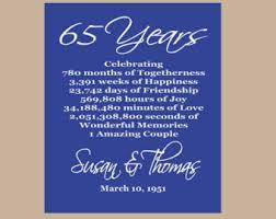 65 wedding anniversary sapphire anniversary etsy