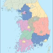 Map Of World Korea by South Korea Vector Map Eps Illustrator Map Our Cartographers