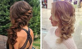 front view of side swept hairstyles 21 pretty side swept hairstyles for prom stayglam