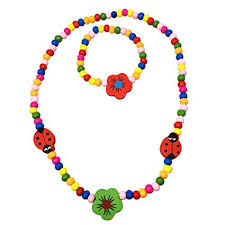 flower bead necklace images Spinnaker collection kids wooden ladybug and flower jpg