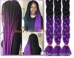 xpressions braiding hair box braids 30 ombre purple box braids hair kanekalon synthetic purple hair