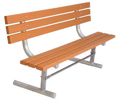 ultra site extra heavy duty park bench with back 6 ft redwood stain