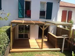 cuisine d été en bois terrasse en ipe cuisine d été et pergola sur urugne 64