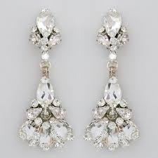 bridal chandelier earrings erin cole bridal jewelry tulip chandelier earrings