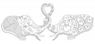 elephant love coloring page elephants in love coloring page kidspressmagazine com