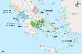 Kefalonia Greece Map by Greece