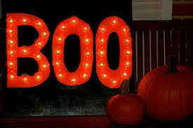 custom boo lighted sign for indoor outdoor lighted signs