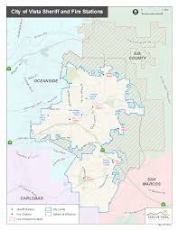 San Diego County Zoning Map by Geographic Information Services City Of Vista Ca