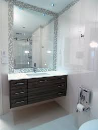 Small Powder Room Vanities - powder room vanity and rectangle white sink on double black wooden