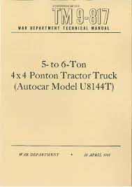 autocar paperprint wwii military vehicle manuals