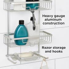 amazon com zenna home 7402al neverrust aluminum shower caddy