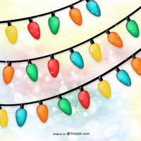 vector background with christmas lights vector free vector