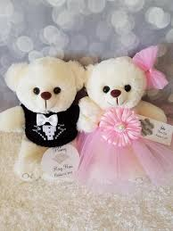 flower girl teddy gift flower girl and ring bearer teddy gift set with two 9inch