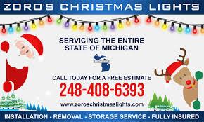 christmas light installation plymouth mn christmas light installation service livonia michigan by zoro s