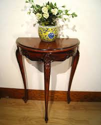 Half Moon Side Table Wood Gallery Itsuki Rakuten Global Market Console Flower Phone