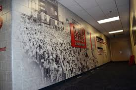 sports facility wall mural designs by oai visual branding championship wall with psa decal