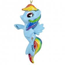 my pony rainbow dash 3 dimensional ornament personalized