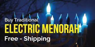 menorah buy electric menorahs for hanukkah free shipping happy hanukkah
