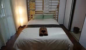 Wood Pallet Headboard Bedroom Amusing Japanese Bedroom Design With White Sliding Door