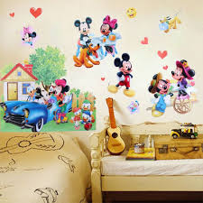 kumpulan mickey mouse room decor ebay www gambaranimasi top cute mickey minnie mouse removable wall stickers pvc mural wallpaper gallery mickey mouse room decor