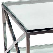 coffee table awesome glass and chrome coffee table designs round