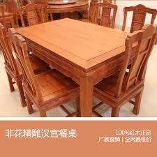 Dining Table And Six Chairs Wood Furniture African Rosewood Mahogany Wood Dining Table Palace